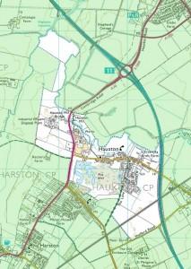 Hauxton Village Plan, click for larger image