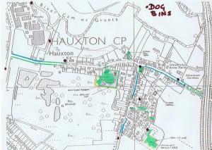 Dog bins in Hauxton